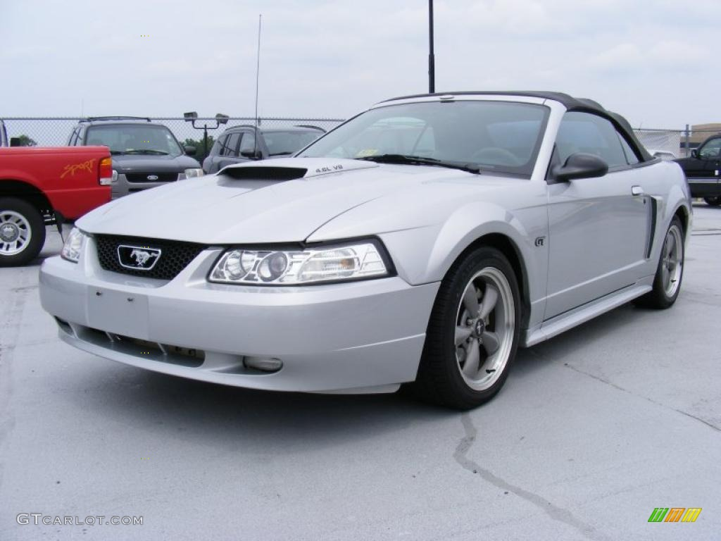 2001 Mustang GT Convertible - Silver Metallic / Medium Graphite photo #1
