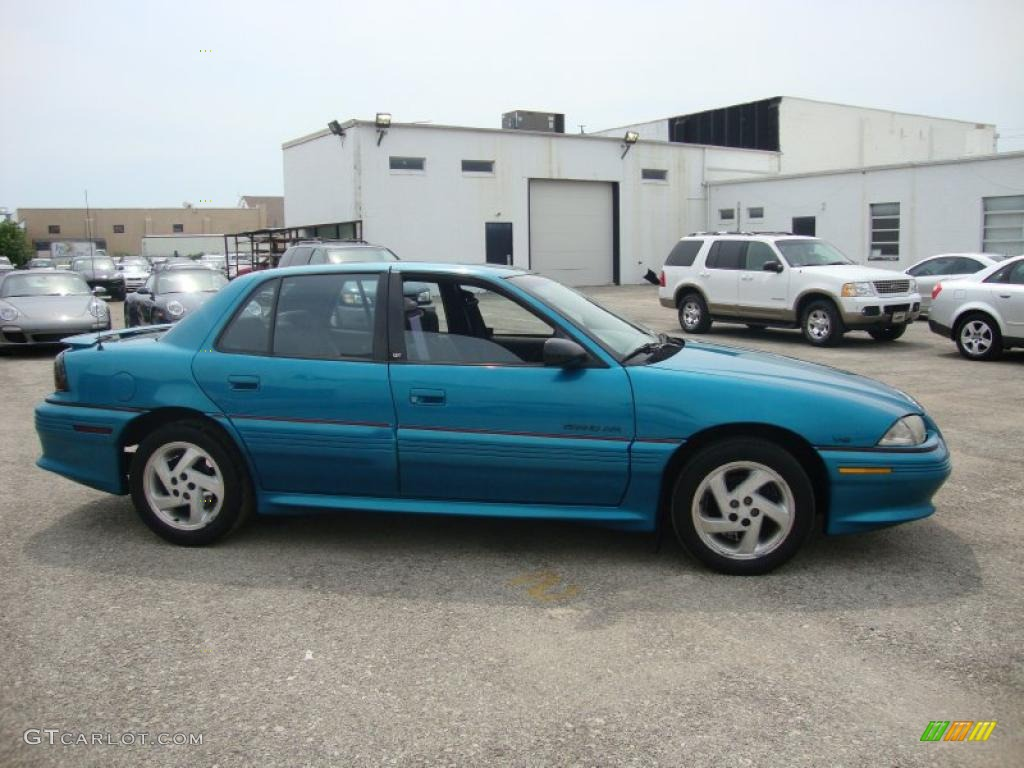 1994 grand am gt sedan brilliant blue metallic dark gray photo 7