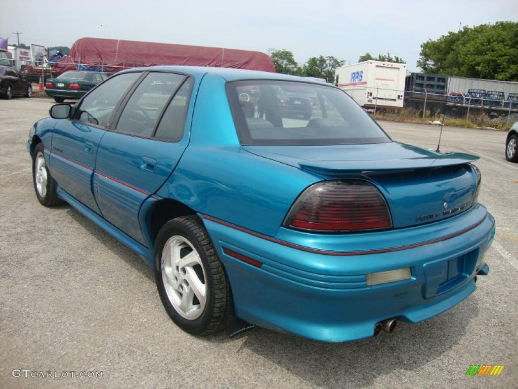 1994 grand am gt sedan brilliant blue metallic dark gray photo 10