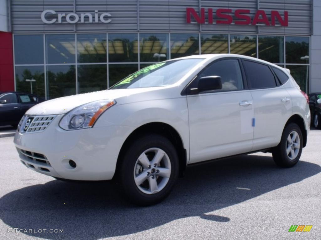 2010 phantom white nissan rogue s 360 value package #32898543