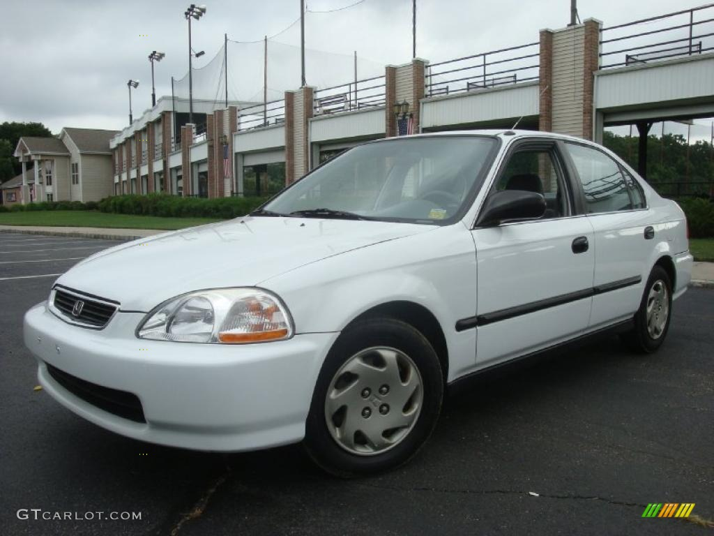 1997 frost white honda civic lx sedan 32945253 car color galleries. Black Bedroom Furniture Sets. Home Design Ideas