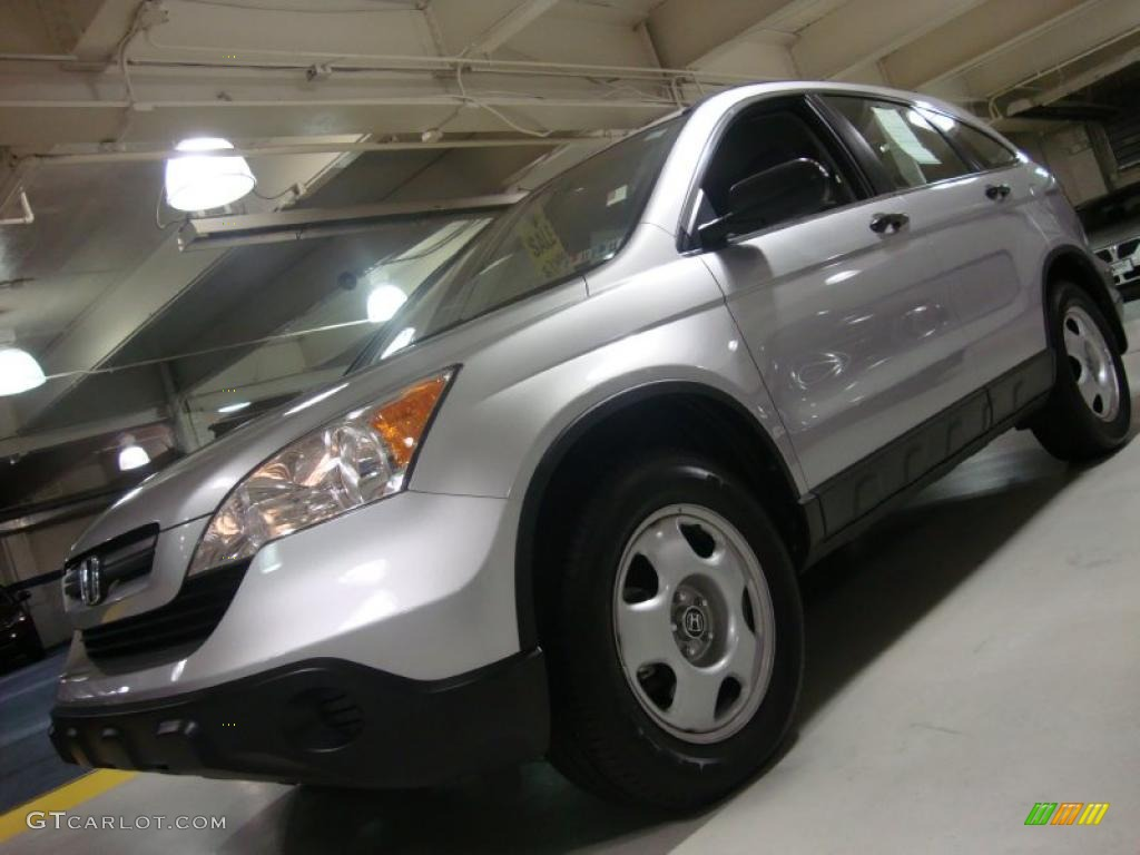 2009 CR-V LX 4WD - Alabaster Silver Metallic / Gray photo #1