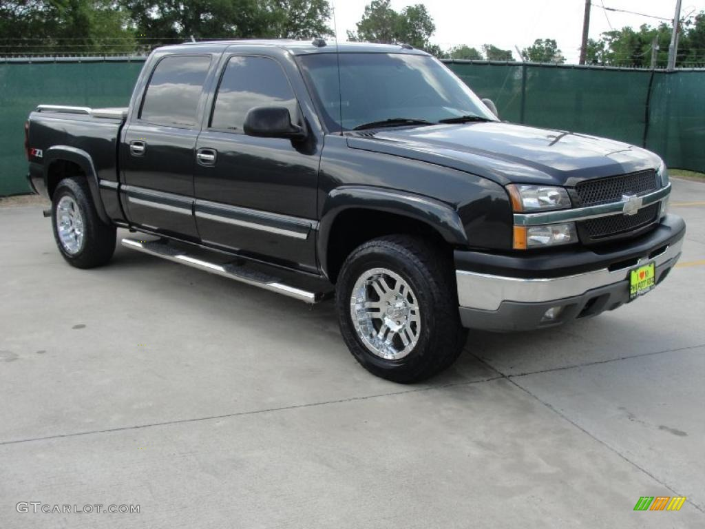 2004 dark gray metallic chevrolet silverado 1500 z71 crew cab 4x4 32965959 car. Black Bedroom Furniture Sets. Home Design Ideas