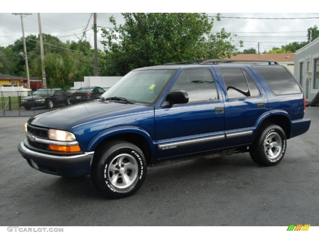 2000 Blazer Ls Indigo Blue Metallic Graphite Gray Photo 1
