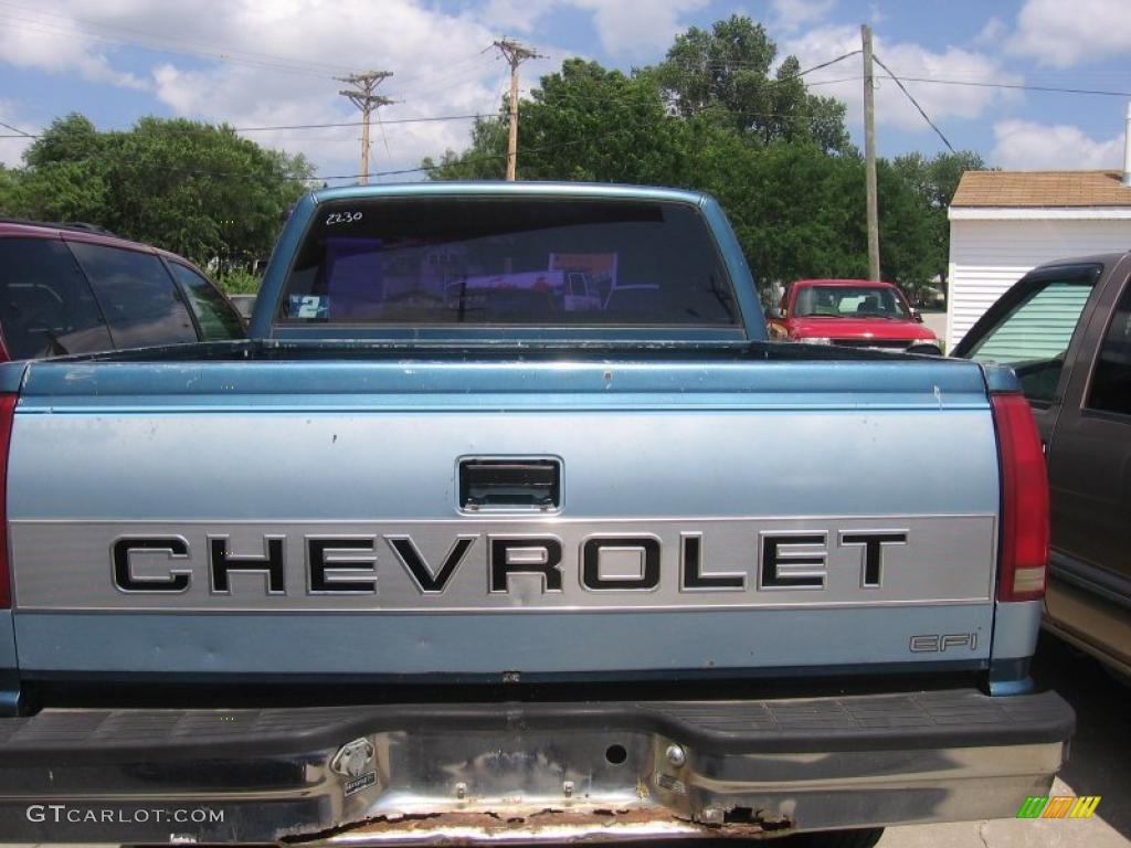 1991 C K K1500 Scottsdale Extended Cab 4x4 Light French Blue Metallic