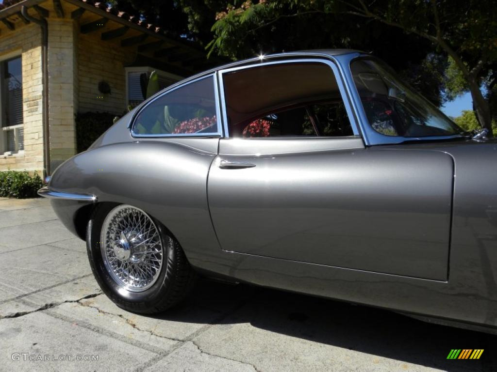 1963 E Type XKE 3.8 Fixed Head Coupe   Opalescent Gunmetal / Red Photo #