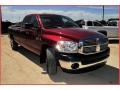 2008 Inferno Red Crystal Pearl Dodge Ram 3500 Big Horn Edition Quad Cab  photo #9