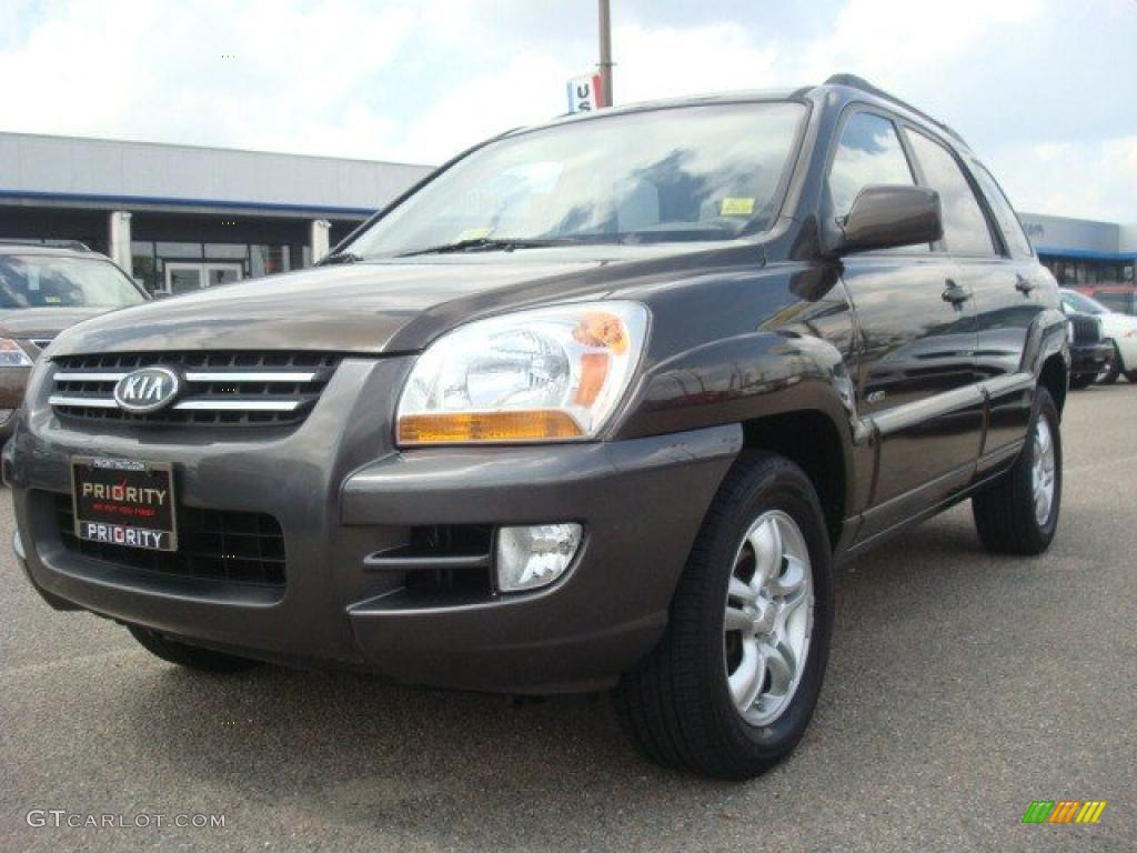 2006 smoky brown kia sportage ex v6 4x4 32965653. Black Bedroom Furniture Sets. Home Design Ideas