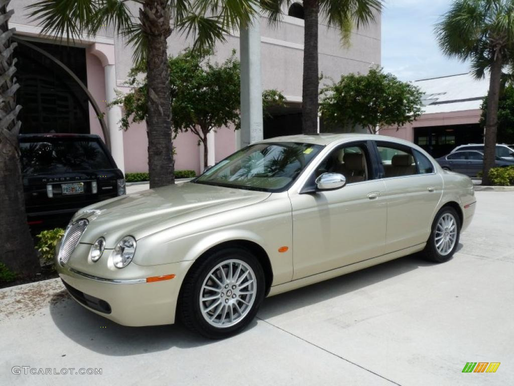 2007 winter gold metallic jaguar s type 3 0 32965703. Black Bedroom Furniture Sets. Home Design Ideas
