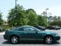 2001 Dark Highland Green Ford Mustang V6 Coupe  photo #6