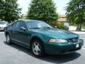 2001 Dark Highland Green Ford Mustang V6 Coupe  photo #7