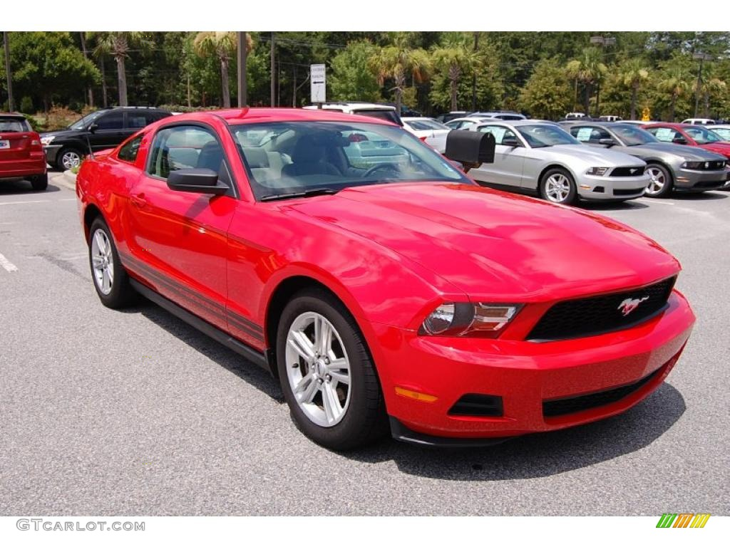 2010 ford mustang v6 coupe torch red color saddle interior. Black Bedroom Furniture Sets. Home Design Ideas