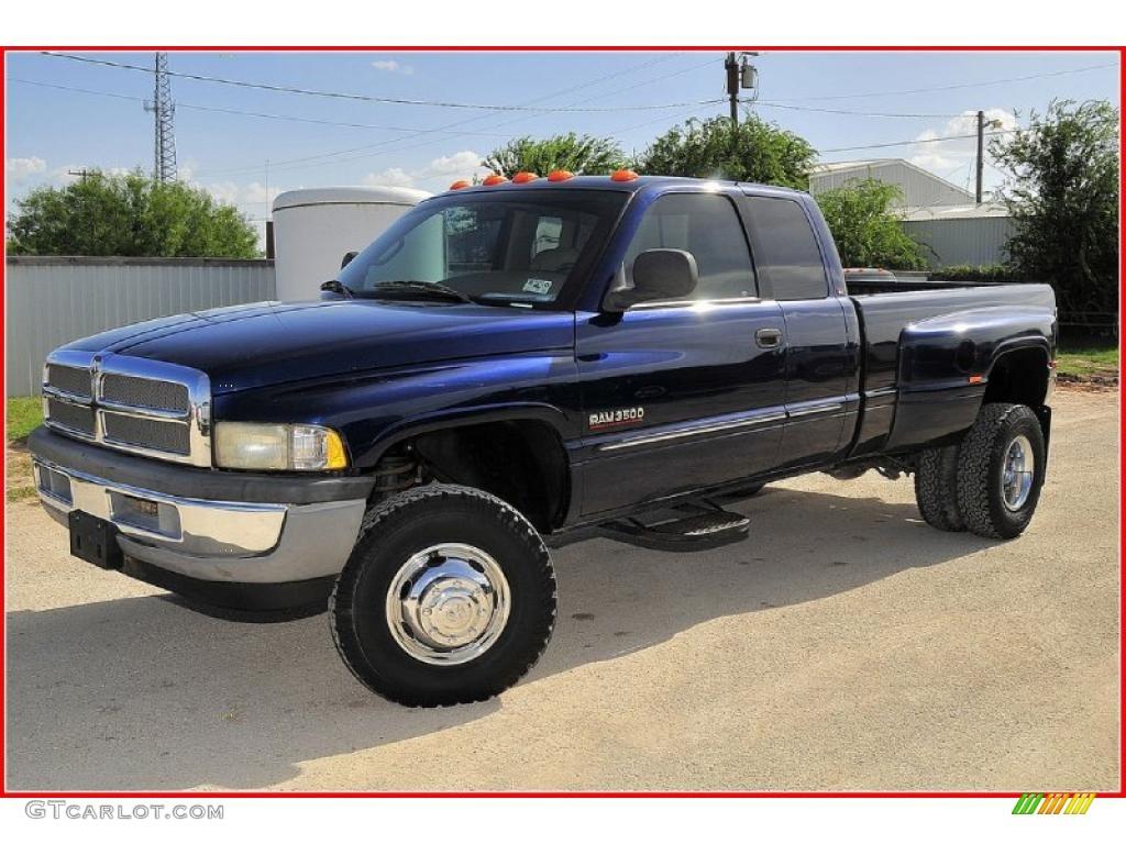 2002 patriot blue metallic dodge ram 3500 slt quad cab 4x4 dually 33146472 gtcarlot com car color galleries gtcarlot com