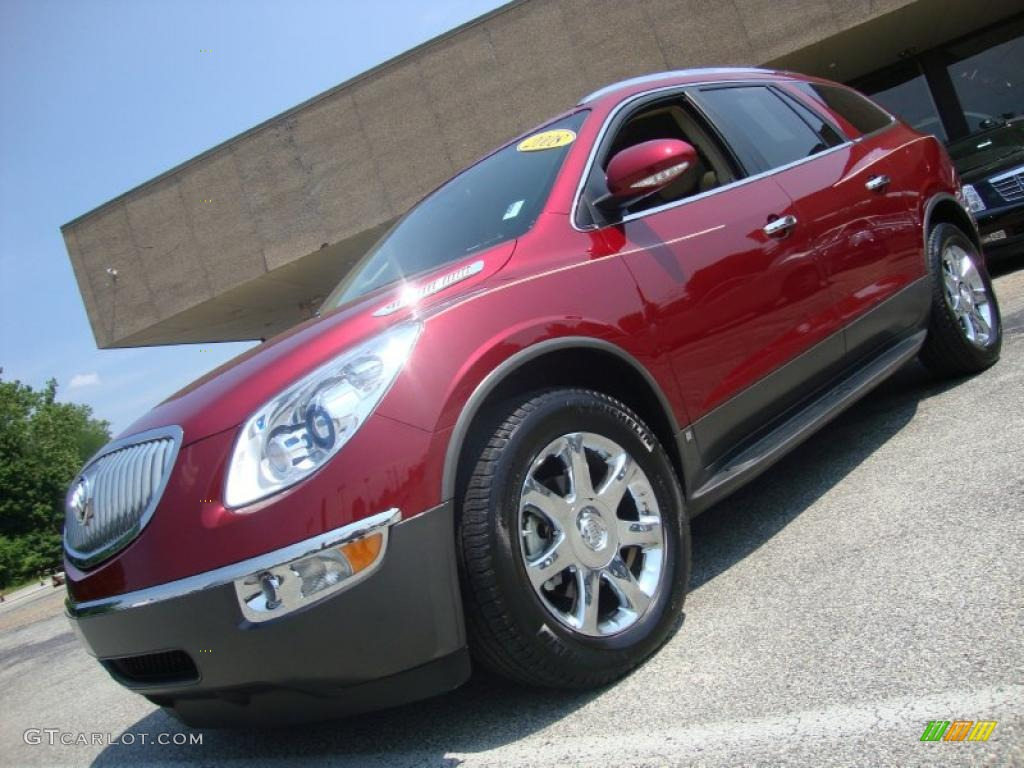 2008 Enclave CXL - Red Jewel / Cashmere/Cocoa photo #1