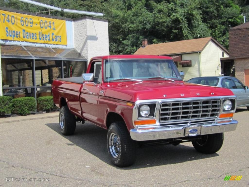 1978 f150 custom 4x4 red gray cloth photo 1