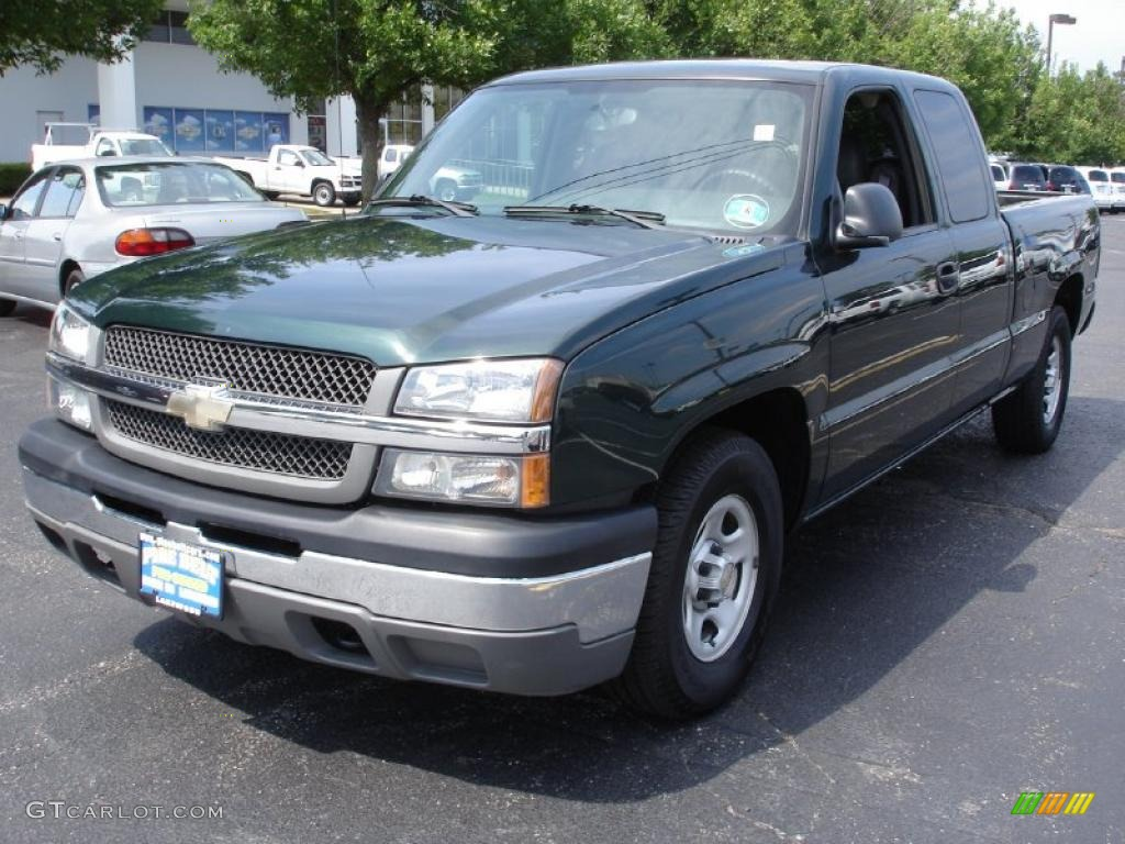 2004 dark green metallic chevrolet silverado 1500 work. Black Bedroom Furniture Sets. Home Design Ideas