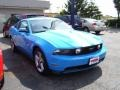 2011 Grabber Blue Ford Mustang GT Premium Coupe  photo #2