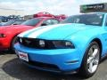 2011 Grabber Blue Ford Mustang GT Premium Coupe  photo #5