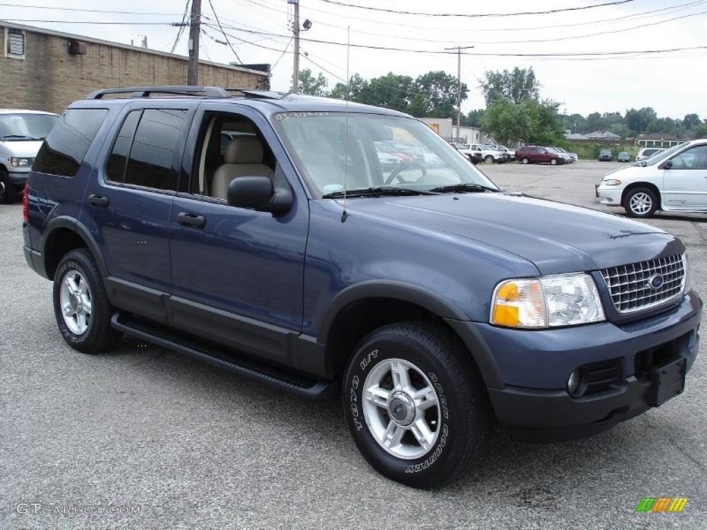 2003 medium wedgewood blue metallic ford explorer xlt 4x4 33189336 gtcarlo. Cars Review. Best American Auto & Cars Review