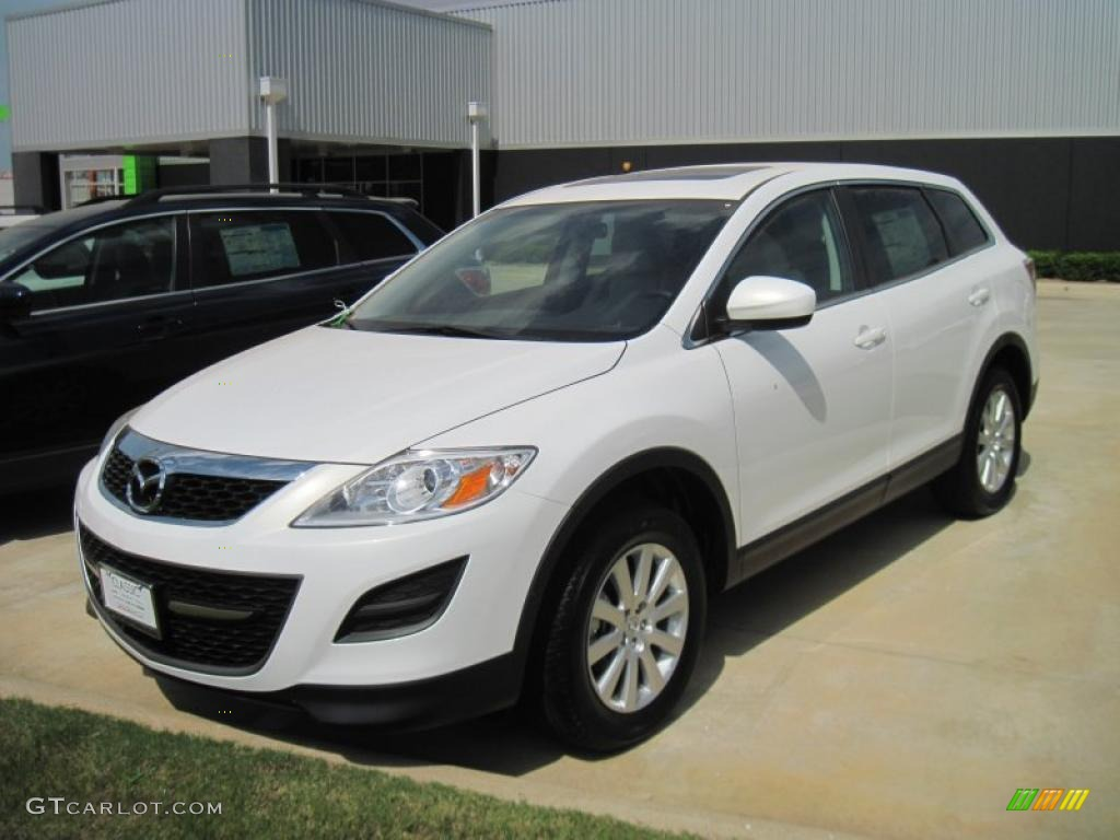 2010 crystal white pearl mica mazda cx 9 touring 33189353. Black Bedroom Furniture Sets. Home Design Ideas