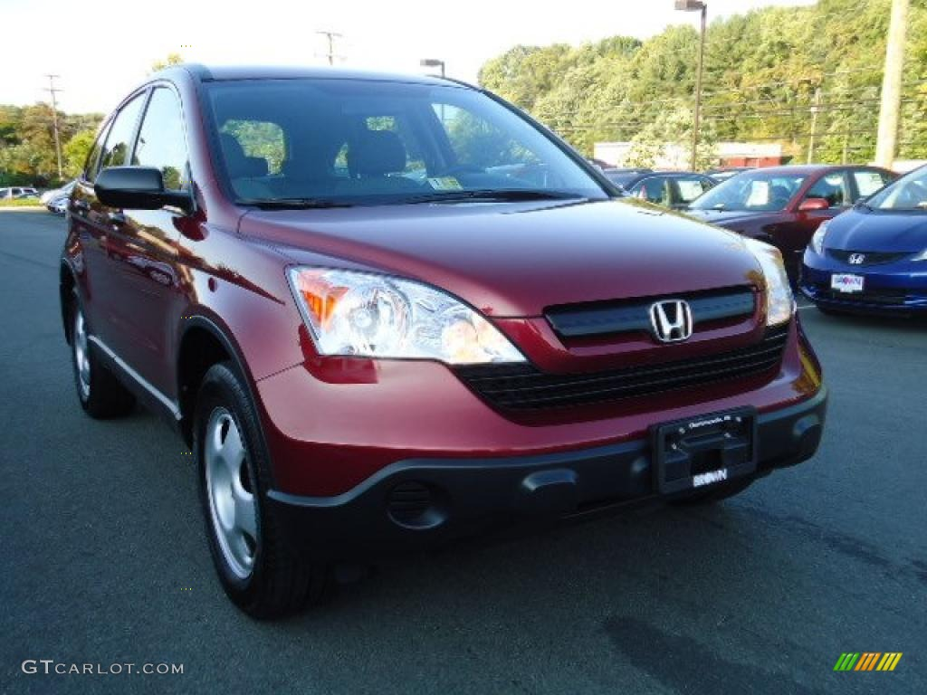 2009 CR-V LX 4WD - Tango Red Pearl / Gray photo #1