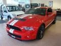 2011 Race Red Ford Mustang Shelby GT500 SVT Performance Package Coupe  photo #7