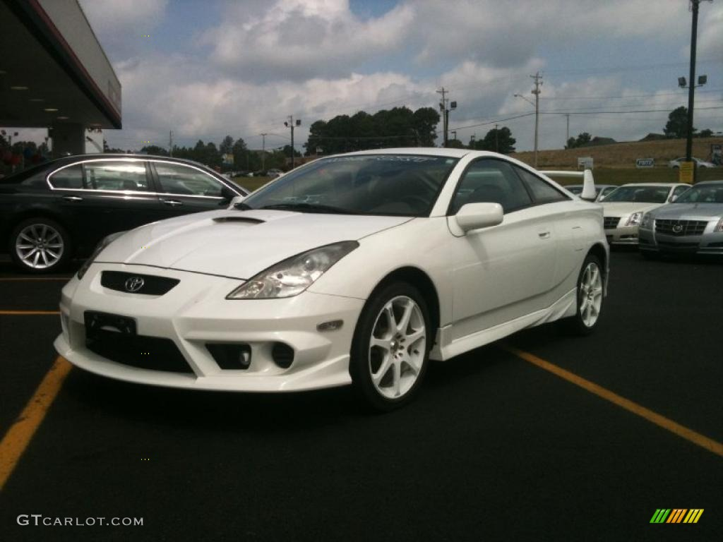 2002 Celica GT   Super White / Black/Silver Photo #1