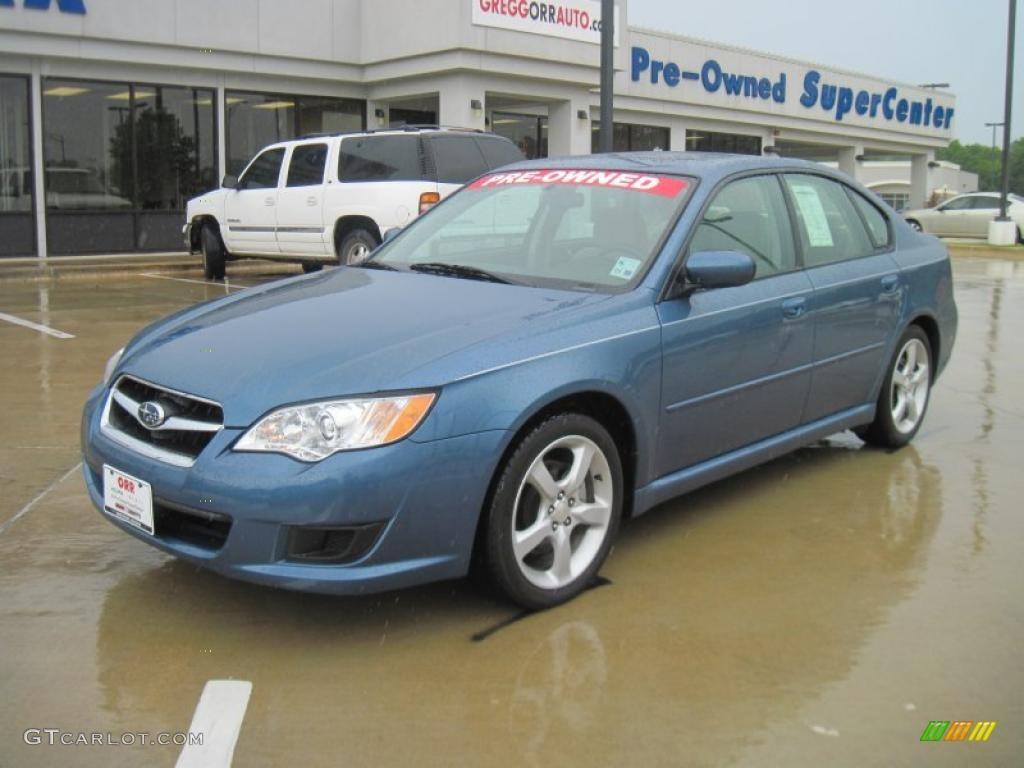 2009 newport blue pearl subaru legacy 2.5i sedan #33236639
