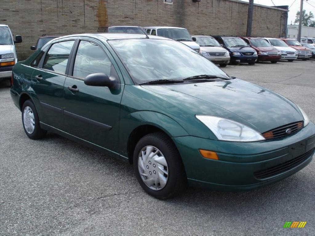 2000 rainforest green metallic ford focus lx sedan 33236668 car color galleries. Black Bedroom Furniture Sets. Home Design Ideas