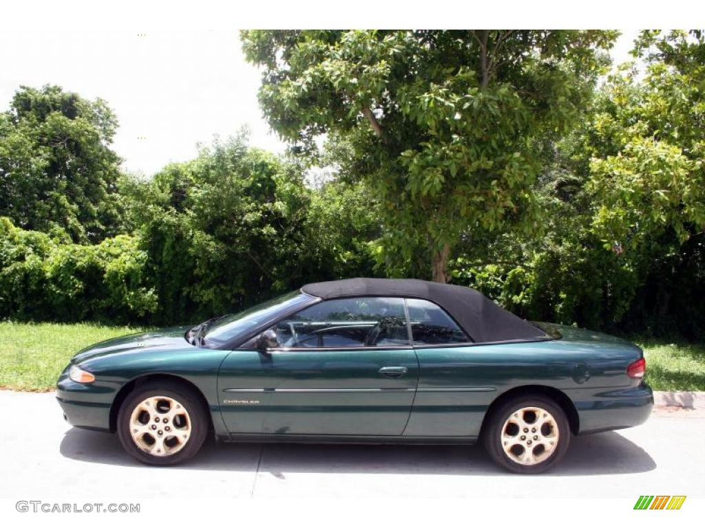 1999 forest green pearl chrysler sebring jxi convertible. Black Bedroom Furniture Sets. Home Design Ideas