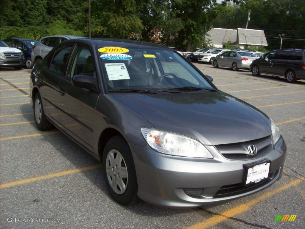 2005 magnesium metallic honda civic value package sedan