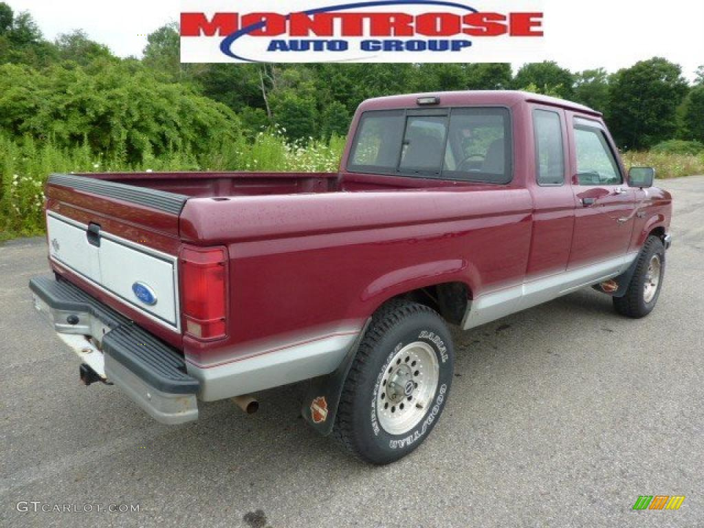 1992 ranger xlt extended cab 4x4 medium cabernet red metallic light graphite photo
