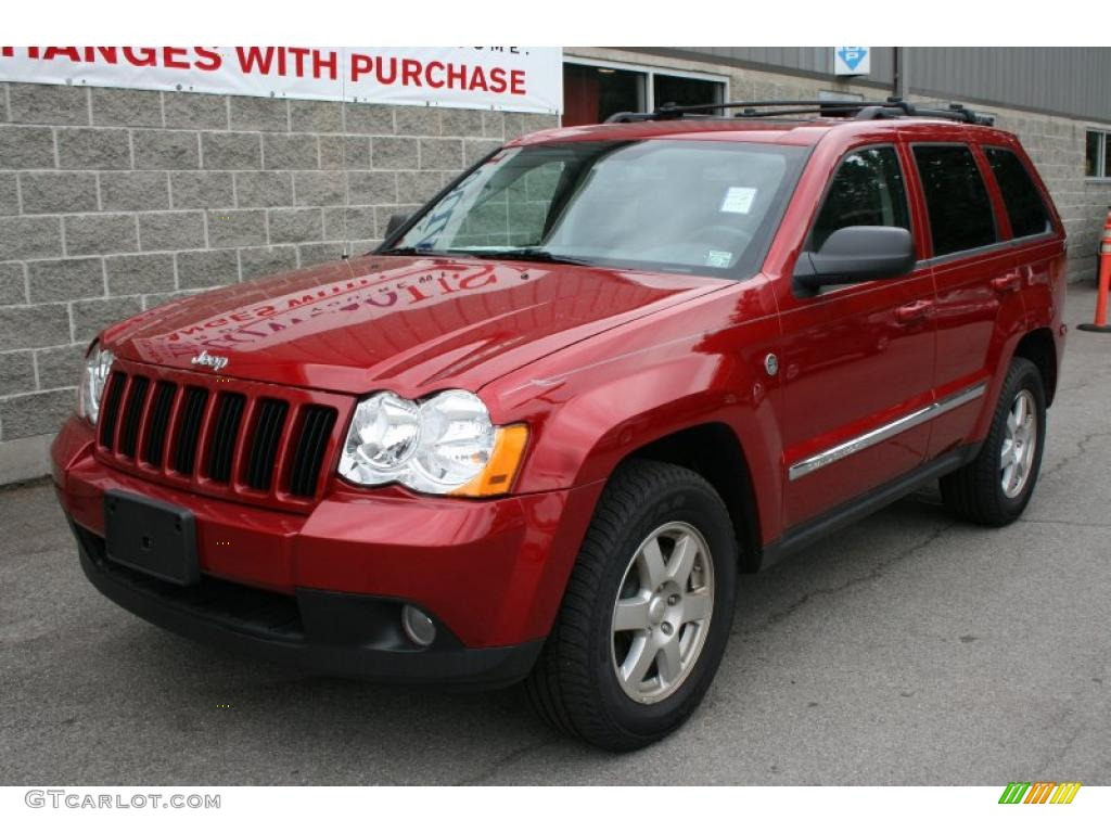 2010 inferno red crystal pearl jeep grand cherokee laredo 4x4 33237143 car. Black Bedroom Furniture Sets. Home Design Ideas