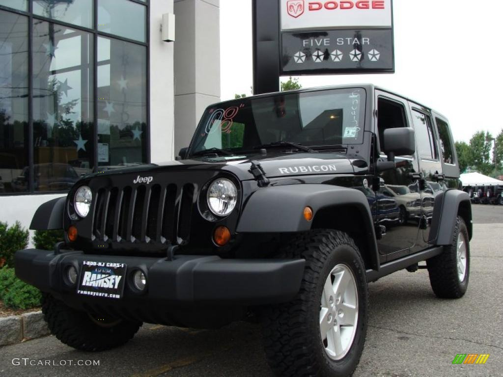 2008 Black Jeep Wrangler Unlimited Rubicon 4x4 33236589