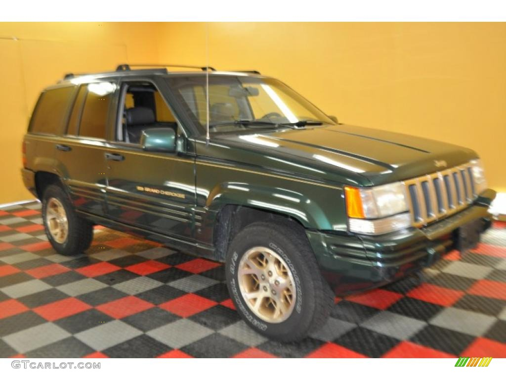 1997 forest green pearl jeep grand cherokee limited 4x4 33305745 car color. Black Bedroom Furniture Sets. Home Design Ideas