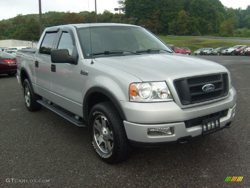 2004 Silver Metallic Ford F150 Fx4 Supercrew 4x4 33329480 F 150 Fx
