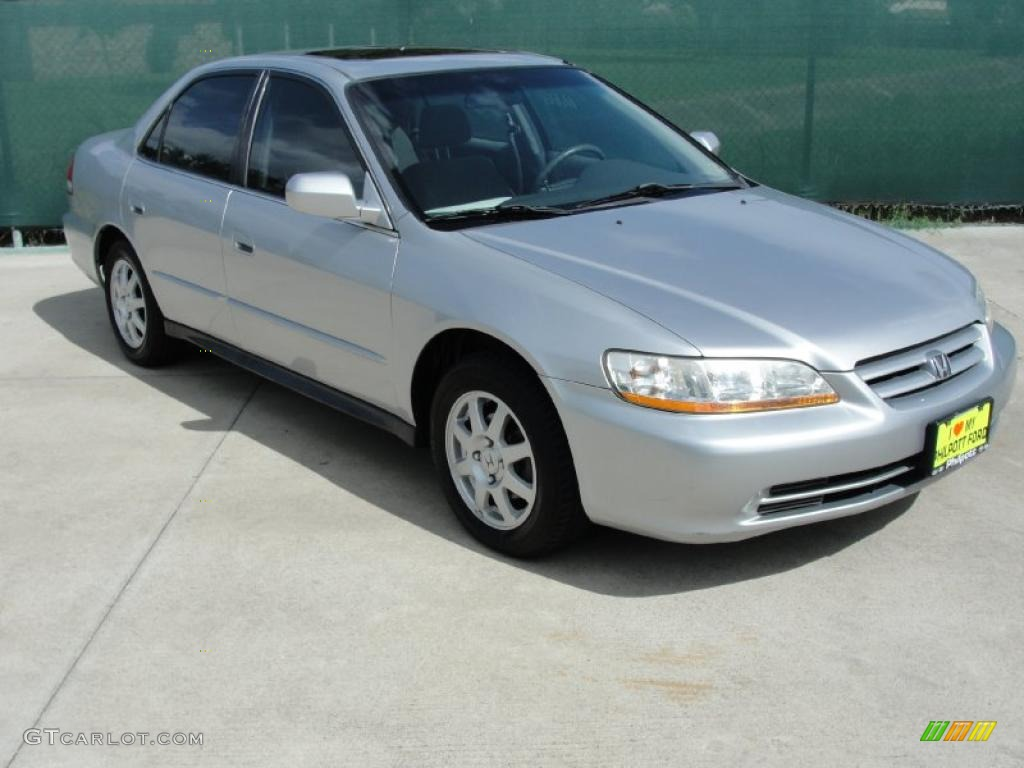 2002 Satin Silver Metallic Honda Accord Se Sedan 33328714