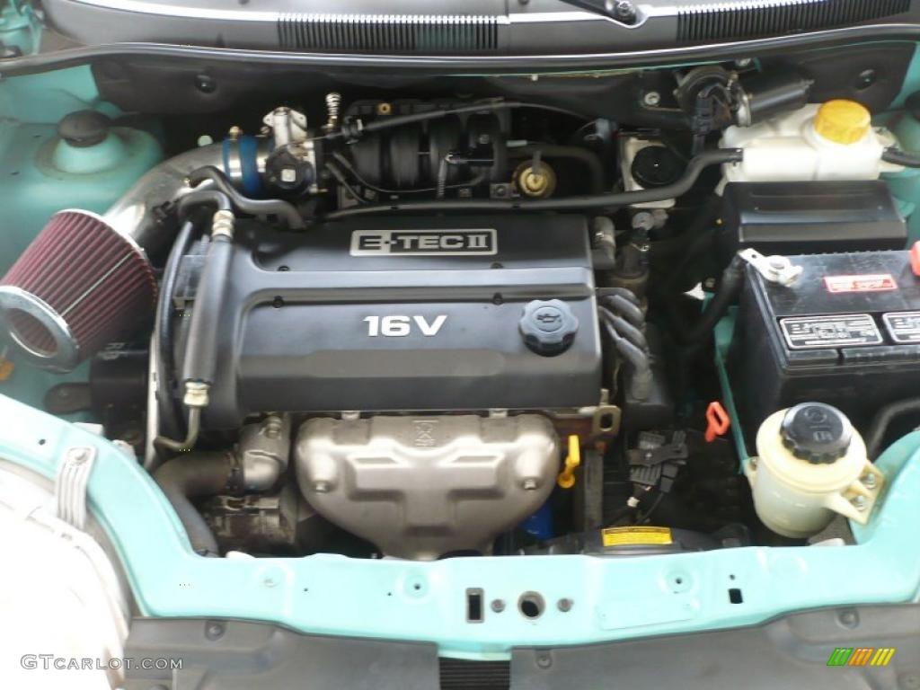 2005 Chevrolet Aveo Ls Hatchback 1 6l Dohc 16v 4 Cylinder Engine
