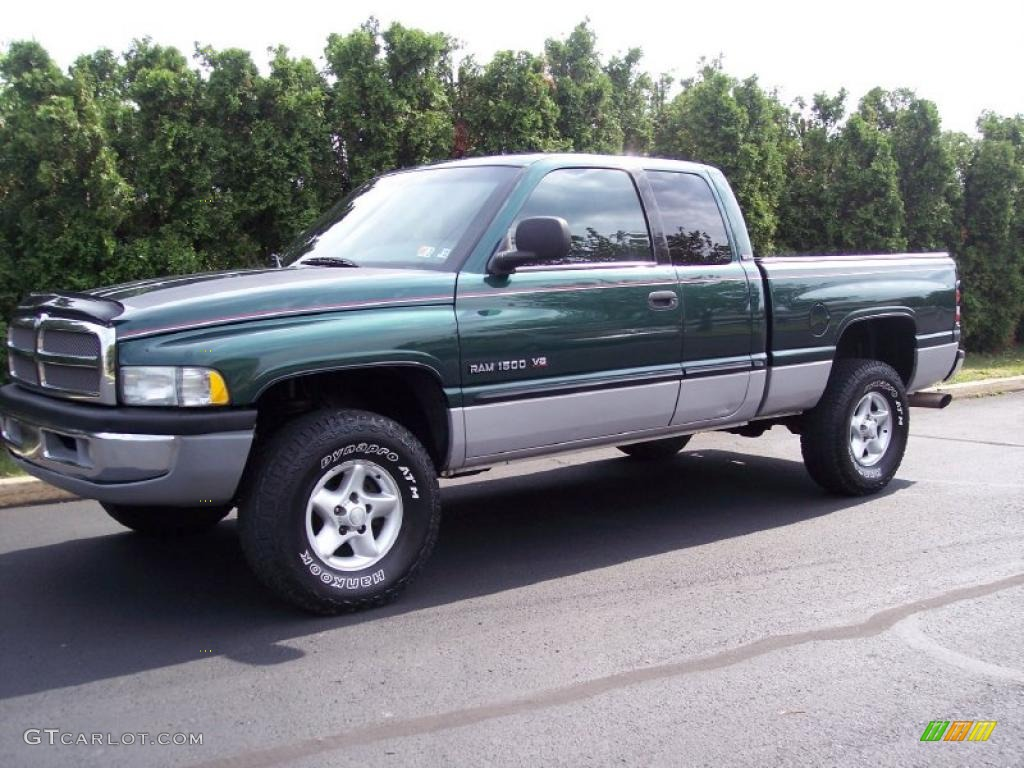 2000 ram 1500 slt extended cab 4x4 forest green pearlcoat mist gray photo