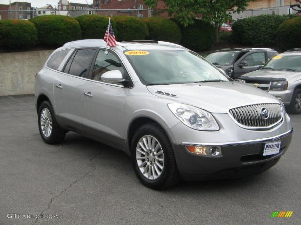 2010 Enclave CXL AWD - Quicksilver Metallic / Titanium/Dark Titanium photo #1