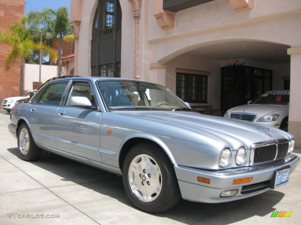 Ice Blue Metallic Jaguar XJ. Jaguar XJ XJ6