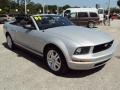 2007 Satin Silver Metallic Ford Mustang V6 Deluxe Convertible  photo #10