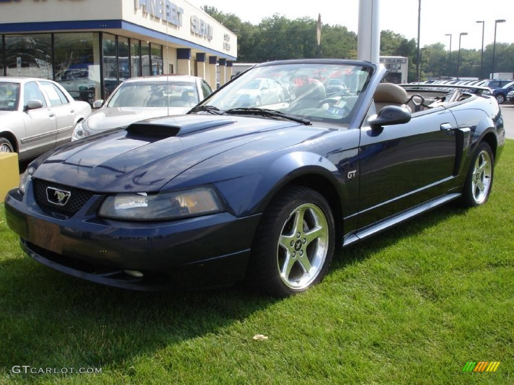 2003 Mustang GT Convertible - True Blue Metallic / Medium Parchment photo #1
