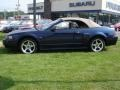 2003 True Blue Metallic Ford Mustang GT Convertible  photo #11