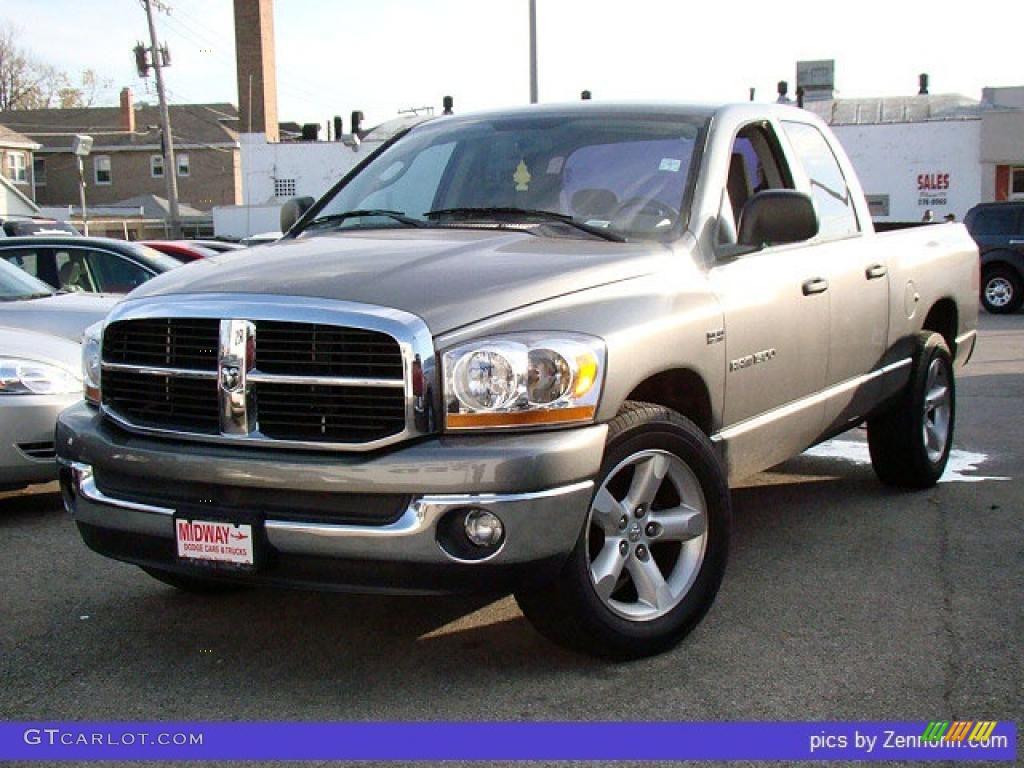 2006 Ram 1500 SLT Quad Cab - Mineral Gray Metallic / Medium Slate Gray photo #1