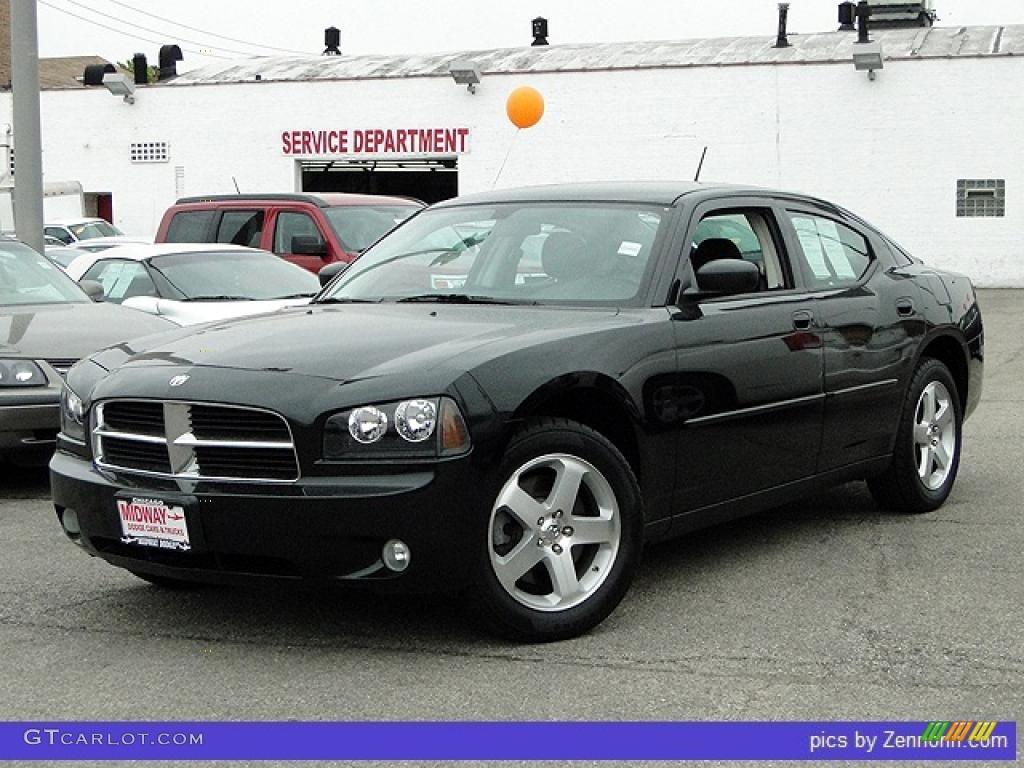 2008 Brilliant Black Crystal Pearl Dodge Charger Sxt Awd