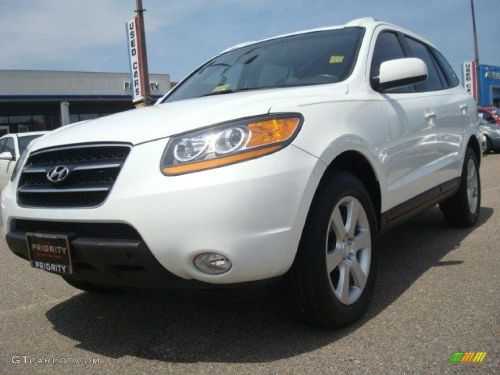 2008 powder white pearl hyundai santa fe limited 33495779 car color galleries. Black Bedroom Furniture Sets. Home Design Ideas