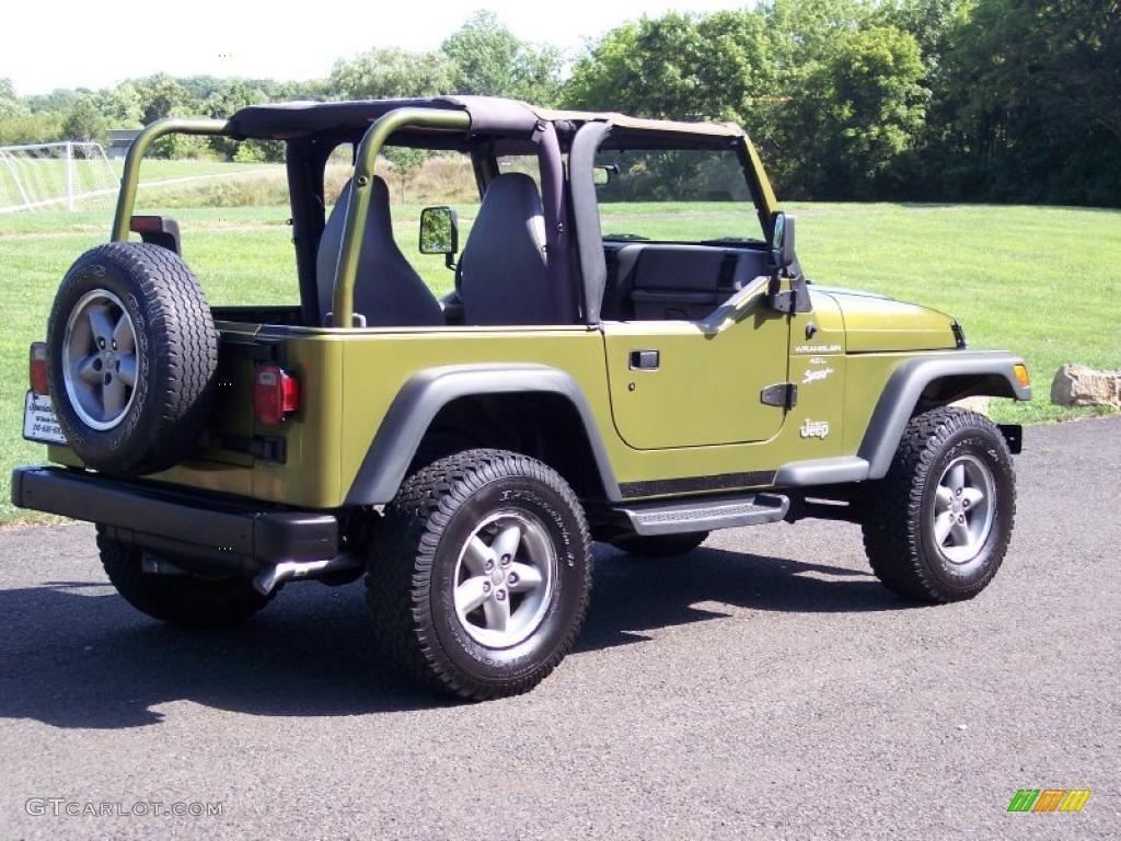 1997 jeep wrangler sport 4x4 citron pearl color gray interior 1997