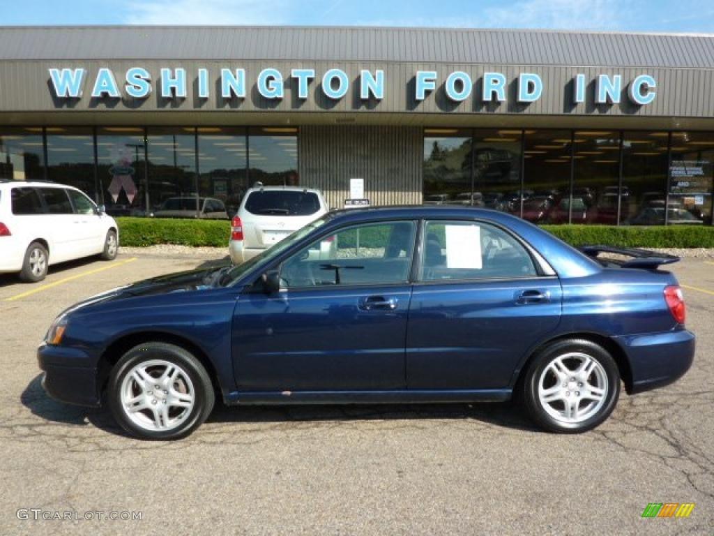 2005 regal blue pearl subaru impreza 2.5 rs sedan #33548922