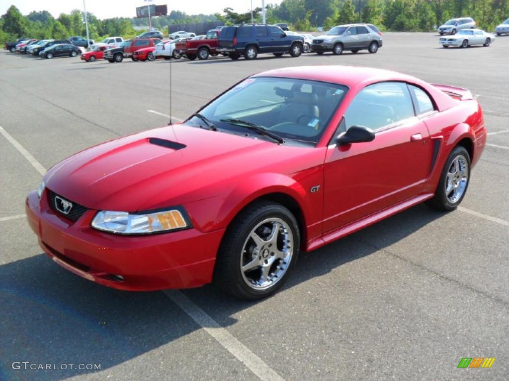 2000 Mustang GT Coupe - Performance Red / Medium Parchment photo #1